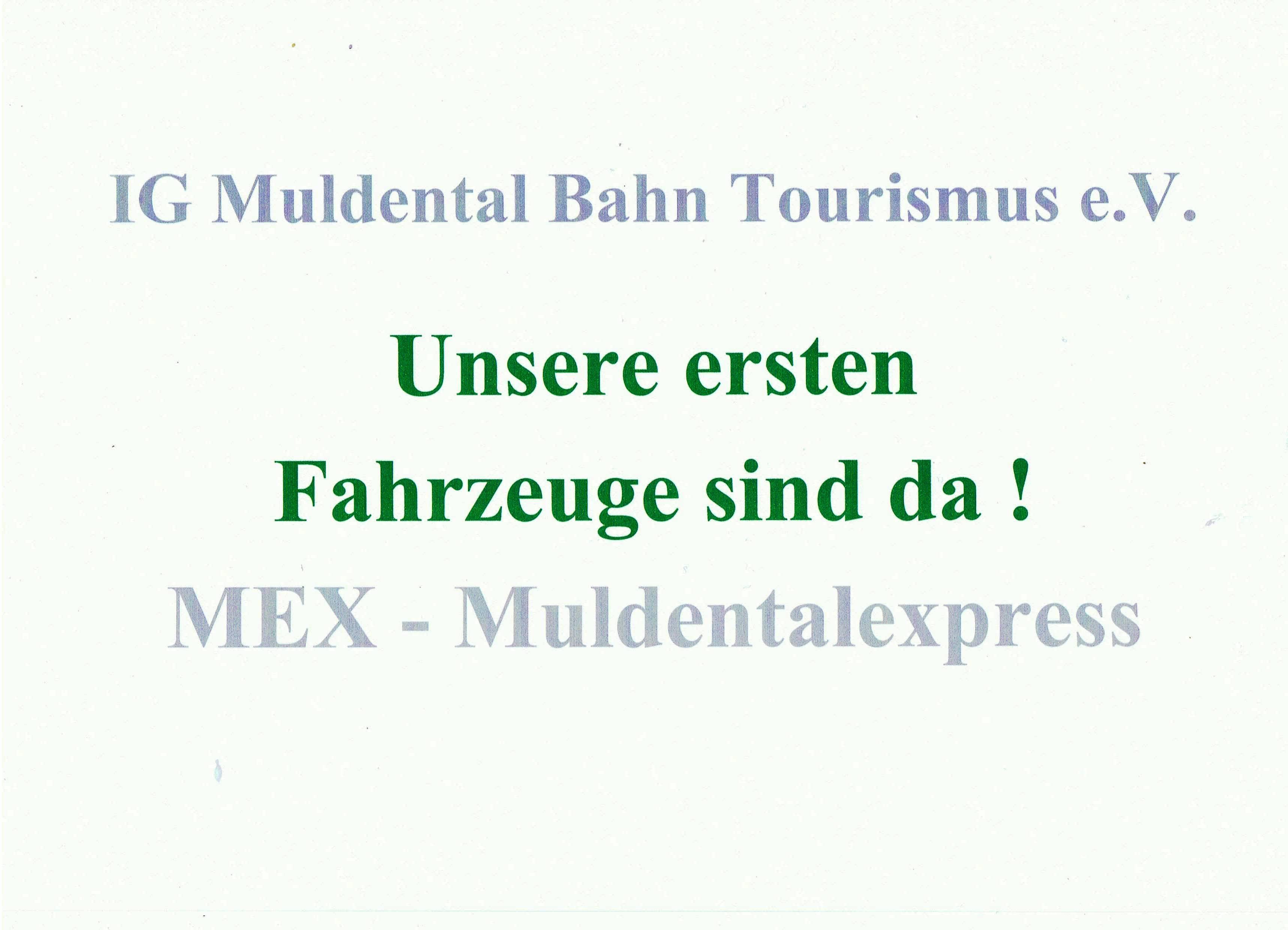 Zitat Unsere ersten Fahrzeuge, MEX (grün)