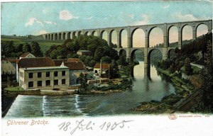 Postkarte Göhrener Brücke (1905)