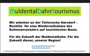 Hinweisschlid der IG Muldentalbahntourismus