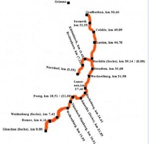 Streckenkarte Muldentalbahn IG MBT (2015)